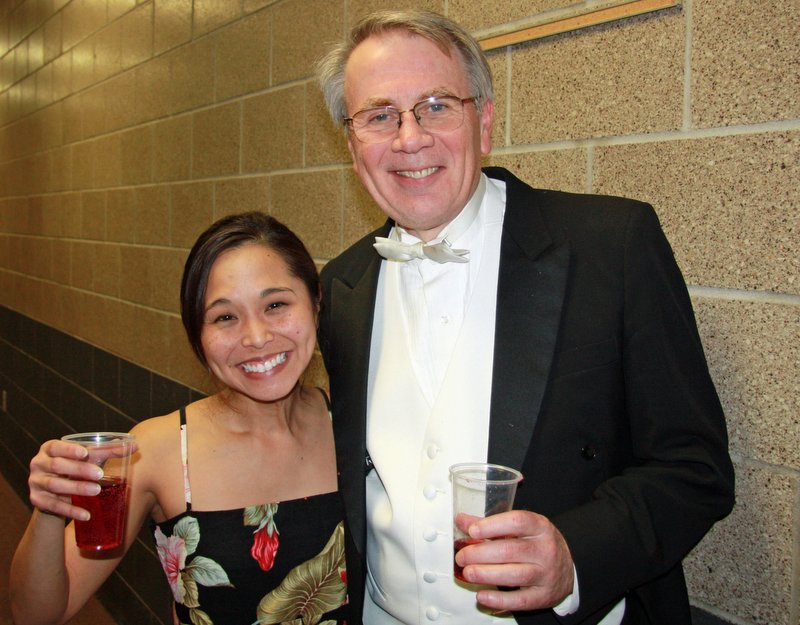 Kim Sueoka with Dr. James Rodde