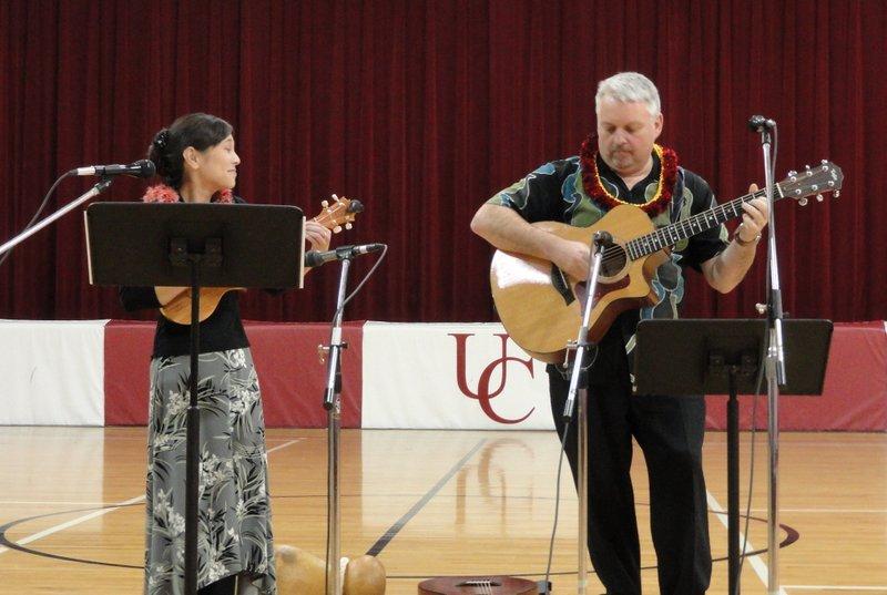Kim Sueoka and David Burk at United Community School, Boone, IA