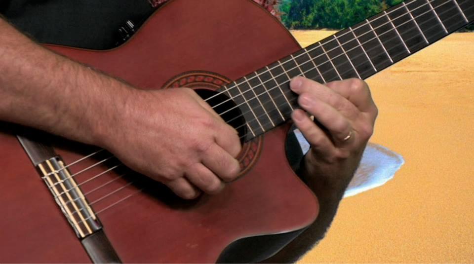 David Burk, guitar close-up
