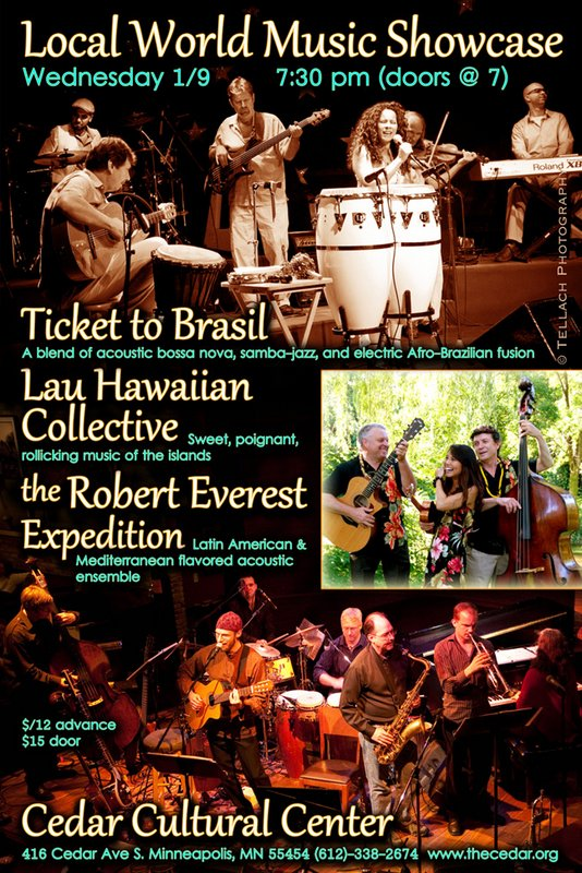 Local World Music Showcase postcard, January 2013
