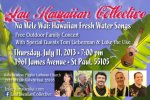 Lau Hawaiian Collective Family Concert with Luke the Uke flier, July 2013