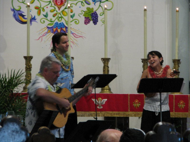 Lau Hawaiian Collective performs Water and Fire: A Concert for Pentecost, St. Paul's on-the-hill, May 2012