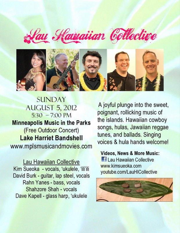 Lau Hawaiian Collective Lake Harriet Bandshell flier