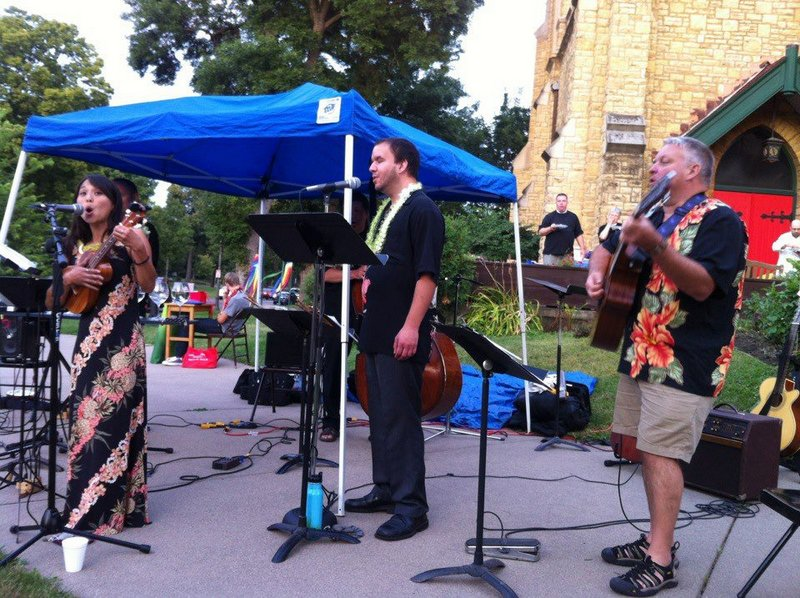 Lau Hawaiian Collective at Summer Sizzle at St. Paul's Episcopal Church on-the-hill, August 2012